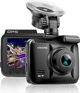Cámara de Coche 4K 2160P WDR con WiFi y GPSDashcam Grabadora Ultra HDDash CAM de Ángulo Amplio 170° con G-SensorMonitor de estacionamientoDetección de Movimiento Grabación en Bucle - AZDOME