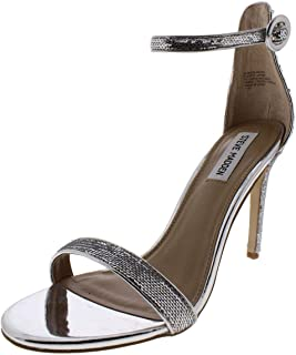 Womens Bling Sequined Ankle Strap Evening Sandals