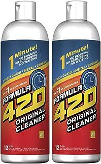 Formula 420 Cleaner - Pyrex, Glass, Metal and Ceramic - 12 Oz. Bottles. 2 Pack