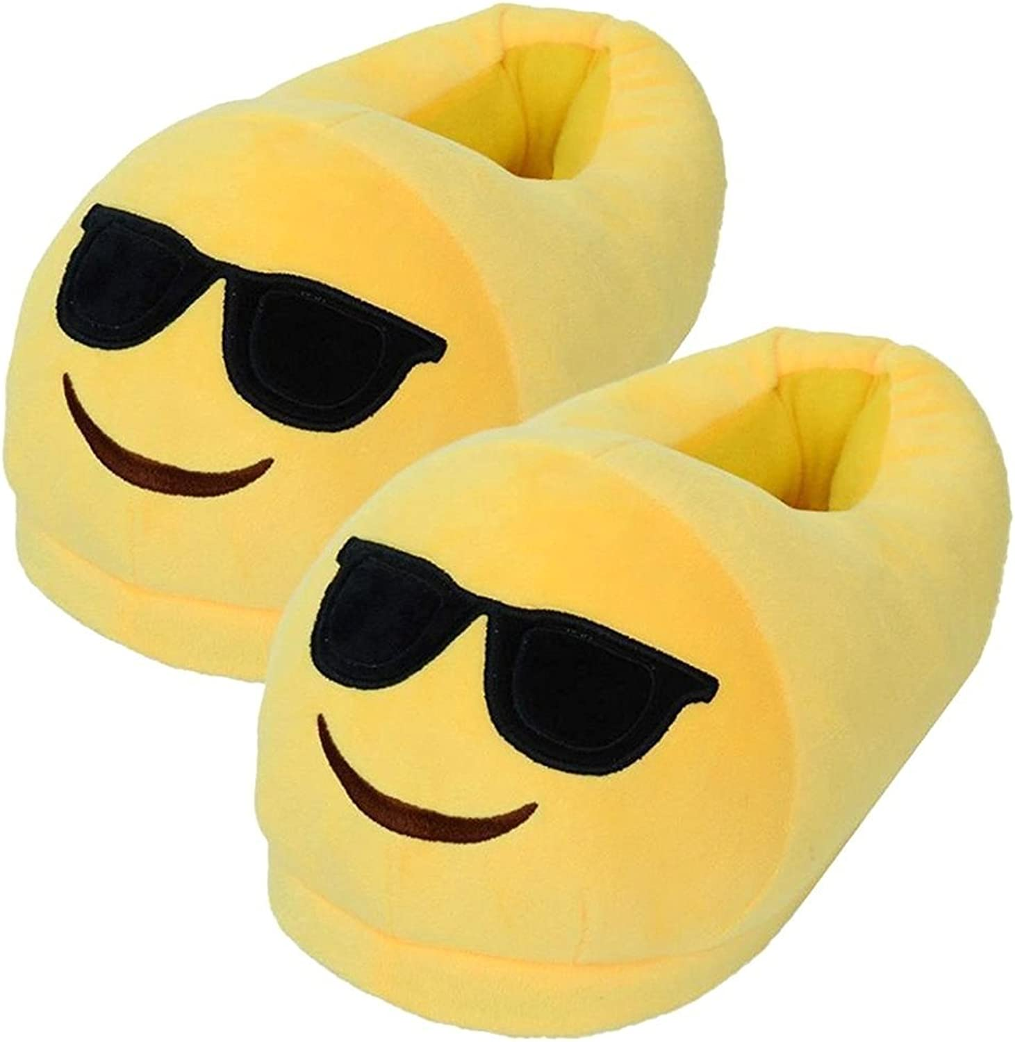 Emoji Sunglasses Slippers Comfortable Indoor shoes for Big Kids & Women with Non-Skid  We Pay Your Sales Tax B11803