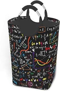 N\A Black Math Linear Mathematics Education Pack de vêtements Sales Panier à Linge 50l Panier à Linge étanche avec poignée...