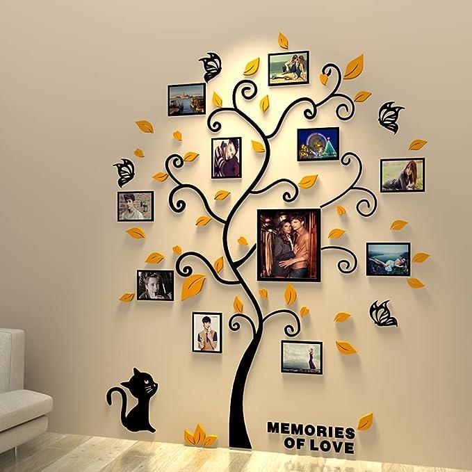 1069 opinioni per Asvert Adesivo da Parete, Fai da te 3D Adesivi Albero Murali Alberi e Famiglia