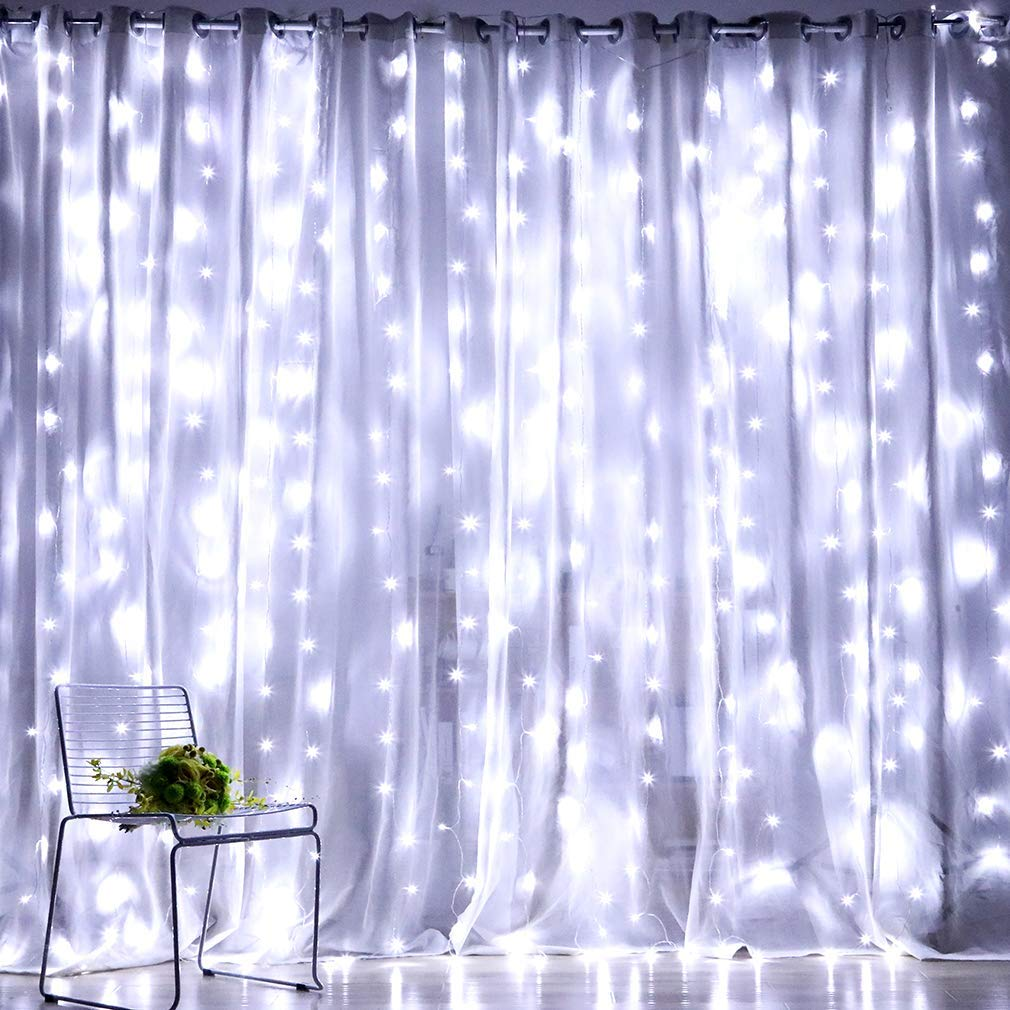 Fiee Curtain 9 8ftX9 8ft Christmas Decorations