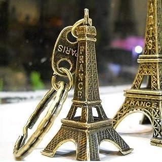 zhibeisai Torre Eiffel Modello Portachiavi Retro Parigi Portachiavi Metallo Split Portachiavi Torre Portachiavi