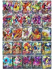 Pokemon Vmax 60 stuks kaarten (18 Vmax-kaarten + 42 kaarten v) Flash-kaarten Pokémon V en Vmax Interactive Battle Card Game voor kinderen