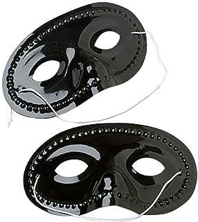 US Toy Plastic Face Masks (1 Dozen), Black