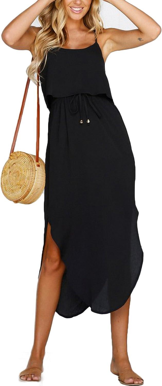 Direct stock discount NERLEROLIAN Women's Adjustable Strappy Max 58% OFF Split Summer Beach Casual