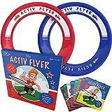 Activ Life アクティブライフ 子供用フリスビーリング [レッド/ブルー] 家族で楽しむ 楽しいクリスマスプレゼント 誕生日プレゼント かっこいいクリスマスのおもちゃ 男の子 女の子 アウトドアゲーム 最高の誕生日 子ども ブルー/レッド