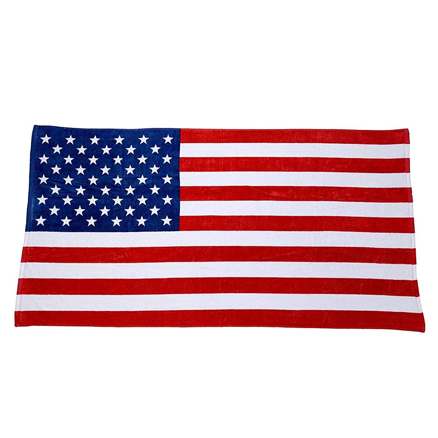 ??Ywoow?? Beach Towel, Independence Day American Flag Beach Towel 100% Cotton Plush