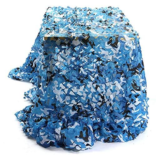 QI-CHE-YI Neto de Camuflaje, Utilizado para el toldo del jardín, pérgola al Aire Libre, Gazebo, Neto de Camuflaje Azul Marino,3x4m