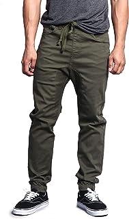 Victorious Men's Drop Crotch Joggers Twill Pants