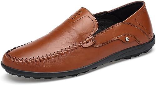 Chaussures Homme 2018, Mocassins en Cuir Cuir de Style hollywoodien pour Homme (Couleur   Light marron, Taille   41 EU)  bonnes offres