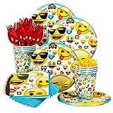 Costume SuperCenter Emoji Standard Birthday Party Tableware Kit (Serves 8)