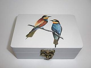 "Caja artesana decorada""Abejarucos"", Abejaruco europeo (Merops apiaster), Bee eater"