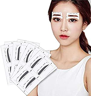 32 Pairs 4 Differnet Styles Eyebrow Shaping Stencil Templates Card Eyebrow Grooming Kit Reusable Design Eyebrows Styling Tool Eyebrows Sticker DIY Makeup Beauty Accessories