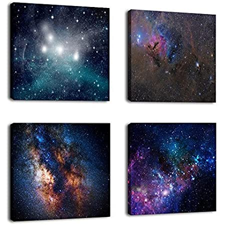 Wall Art Glass Print Canvas Picture Large Nebula Space Cosmos p92976 100x50cm