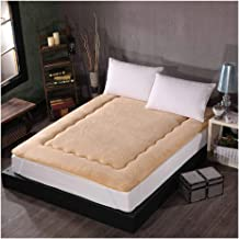 Single Twin Mattress, Thicken Quilted Soft Breathable Sleeping Pad Bed, Non-Slip Foldable Roll Up Student Dormitory Floor ...