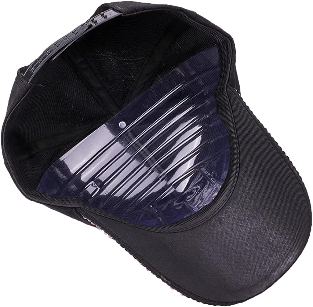Gudessly Women Studded Rhinestone Crystals Adjustable Baseball Cap Plain Sparkle Bling Denim Sun Hat