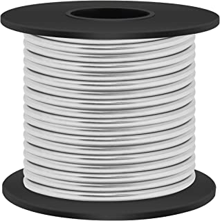 Aluminum Craft Wire 8 Gauge 33FT, Luxiv 3mm 10m Silver Aluminum Wire for Crafting Wire Soft DIY Metal Craft Art Wire (Silver, 8gauge(3mm))
