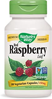 Nature's Way Red Raspberry Leaves, 900 mg per Serving, 100 Capsules