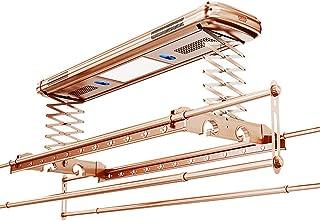 Wash Mur et Plafond Corde à Linge, électrique Etendoir, avec télécommande en Aluminium et en Acier