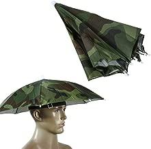 Hut f/ür Erwachsene Angeln Anti-Regen Highplus Kopf-Regenschirm Sonnenschirm