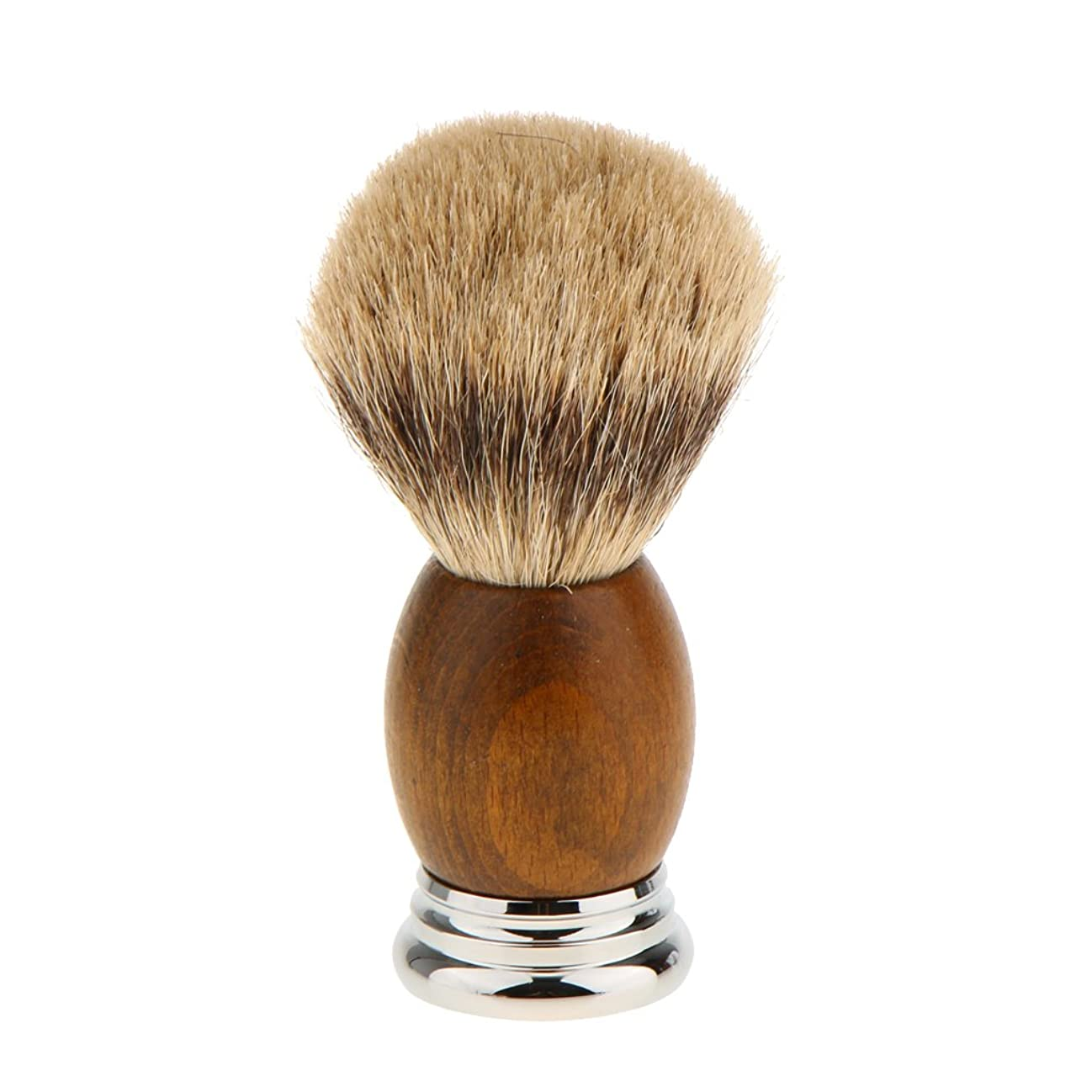 分離サロン怠惰Lovoski 紳士 高密度 シェービングブラシ レトロ 木製ハンドル 髭剃り 泡立ち 洗顔ブラシ 父の日