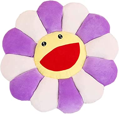 """17.7"""" Colorful Sunflower Floor Pillow Seating Cushion Chair Pad for Kids Reading Nook, Large Floor Flower Shaped Cushions Pil"""