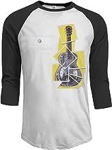 MarshallD Men's Dire Straits Sultans of Swing 3/4 Sleeve Raglan Baseball T Shirts Black