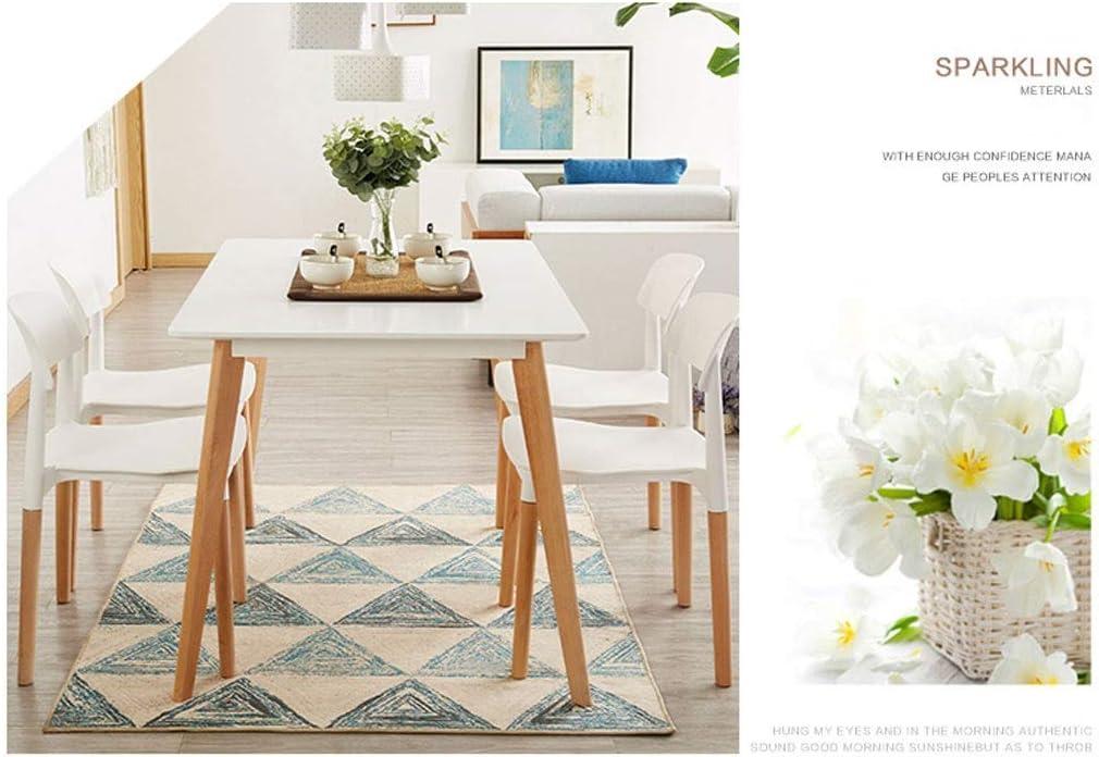 WJXBoos Eiffel Chairs Chaise de Bureau à Manger de Style rétro avec Pieds en Bois et siège en PP (Couleur: Blanc) 4