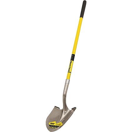 Truper 31198 Tru Pro Round Point Shovel, Fiberglass Handle, 10-Inch Grip, 48-Inch