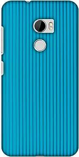 AMZER Slim Designer Snap On Hard Shell Case Back Cover for HTC One X10 - Carbon Fiber Redux Aqua Blue 16