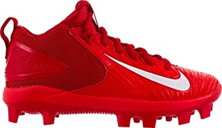 Nike Boys' Trout 3 Pro (GS) Baseball Cleat, Red/White, 6