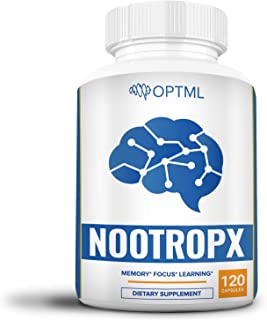 NootropX Advanced Nootropic Brain Supplement, Clinically Effective Doses, Memory and Focus Enhancement Formula, Alpha GPC,...