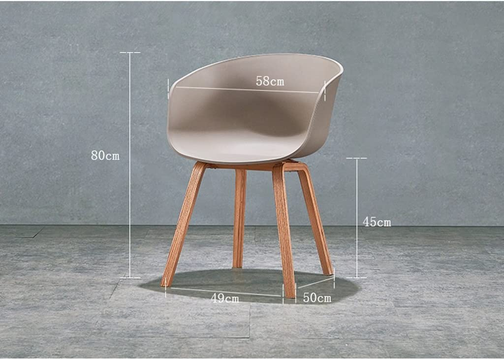 Chaise de salle à manger SLL- Chaise en Bois Massif Simple Moderne Moderne (Color : C) A