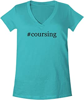The Town Butler #Coursing - A Soft & Comfortable Women's V-Neck T-Shirt