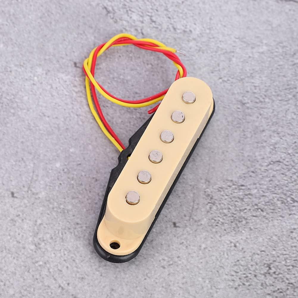 Pastilla de guitarra de bobina simple, pieza de repuesto de guitarra eléctrica duradera para guitarra eléctrica ST para amantes de la guitarra(Beige)