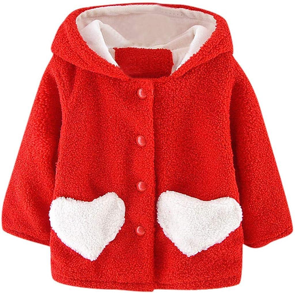 Toddler Direct store Girls Boys Winter Fleece Coat Love Jacket discount Heart Pr Cute