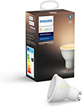 Philips Hue White Ambiance Single Smart Spotlight LED [GU10 Spot] with Bluetooth, Compatible with Alexa and Google Assistant