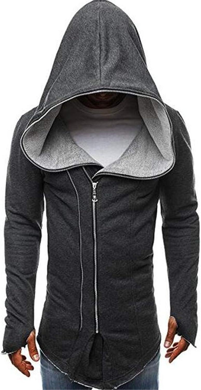 4d6a7d332774 JXG JXG JXG Men Casual Long Sleeve Zip Off Fashion Poncho Hoodie Sweatshirt  3fe8d1
