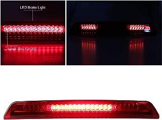 For 2004-2015 Nissan Titan/2005-2016 Nissan Frontier Third Brake Light 3rd LED Cargo Light High Mount Lamp Center Light 26590-EA800 (Red Lens)