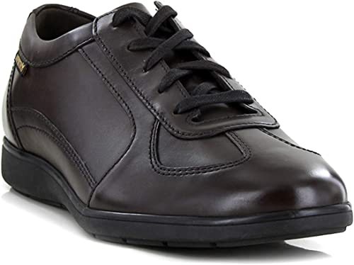 Mephisto LEONZIO Leather Turnschuhe for Men Dark braun