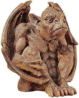Design Toscano JE11209101 Balthazar's Watch Gargoyle Gothic Decor Statue, 10 Inch, Aged Stone