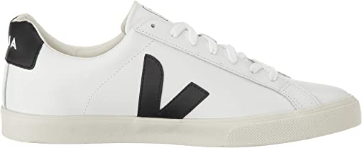 Extra-White/Black Leather