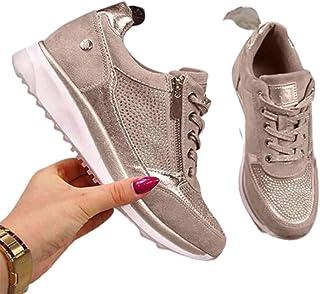 Amazon.es: zapatillas deportivas mujer vestir - Dorado