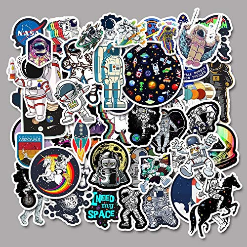 BAIMENG Outer Space Astronaut Stickers For Suitcase Skateboard Laptop Luggage Fridge Car Styling Diy Decal Sticker For Gift 50Pcs/Set