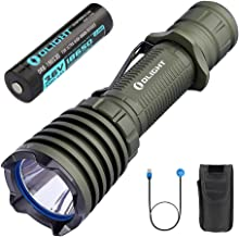 OLIGHT Warrior X 2000 Lumens Cree XHP35 NW 560 Meter Throw USB Magnetic Rechargeable Tail Switch Tactical Flashlight for Outdoor Camping Hunting Hiking,18650 Battery Patch