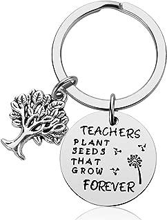 Teacher Gifts for Women - Best Teacher Ever Teacher Appreciation Gifts Idea for Christmas Birthday Stainless Steel Teacher Jewelry (D)