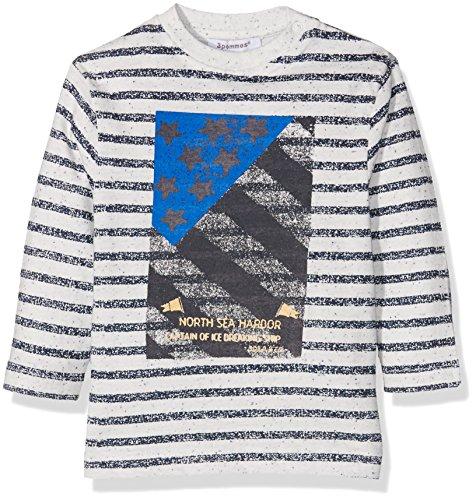 3 pommes Baby-Jungen Blue Iceberg T-Shirt, Elfenbein (Broken White), 80
