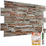 Paneles decorativos de pared con efecto 3D, 10 hojas, 4,9 m², revestimiento de plástico PVC de 52,53 pies cuadrados